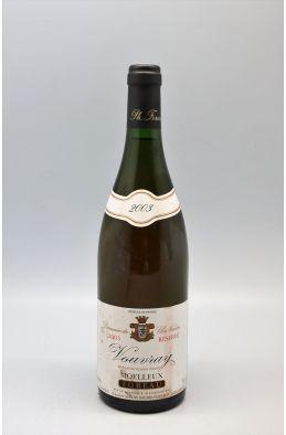 Foreau Vouvray Moelleux Réserve 2003 - PROMO -5% !