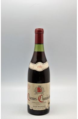 Henri Richard Charmes Chambertin 1981 - PROMO -10% !