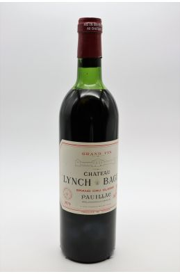 Lynch Bages 1979 -10% DISCOUNT !