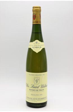 Zind Humbrecht Alsace Grand Cru Riesling Rangen de Thann Clos Saint Urbain 1991