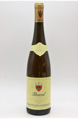 Zind Humbrecht Alsace Grand cru Riesling Brand 2000